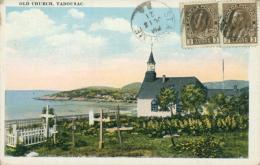 CA TADOUSAC / Old Church / CARTE COULEUR - Quebec