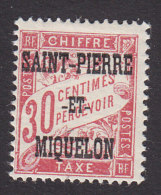 St Pierre And Miquelon, Scott #J14, Mint Hinged, French Postage Due Overprinted, Issued 1925 - Timbres-taxe