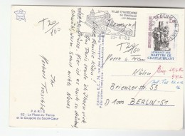1982 FRANCE COVER Stamps 1.60 CHATEAUBRIANT MARTYRS WWII  To Germany SLOGAN Pmk Illus Basilique (postcard St Denis) - France