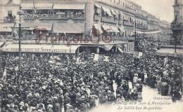 (34) Montpellier - Le Meeting Viticole 9 Juin 1907 - Le Défilé Rue Maguelone Grand Café De Montpellier - 2 SCANS - Montpellier
