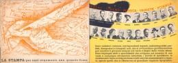 """05304  """"LA STAMPA (TO) - PIEGHEVOLE PUBBLICITARIO ILLUSTRATO IN 6 FACCIATE -  1936"""" ORIGINALE - Publicités"""