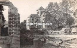 CARTE PHOTO ALLEMANDE BOULT SUR SUIPPE  1918 - France