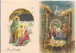 Ldiv109/110 -  Buon Natale -  Lot De Deux Cartes Italienne Sur La Nativité - - Unclassified