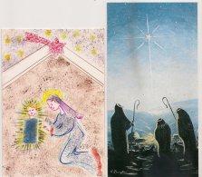 Ldiv111/113 -  Lot De Deux Cartes  Sur La Nativité - - Unclassified