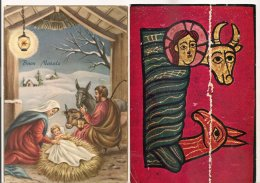 Ldiv115/116 -  Lot De Deux Cartes  Sur La Nativité - - Christmas