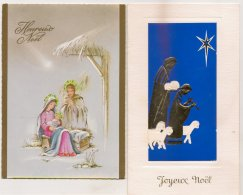 Ldiv117/118 -  Lot De Deux Cartes  Sur La Nativité - - Christmas