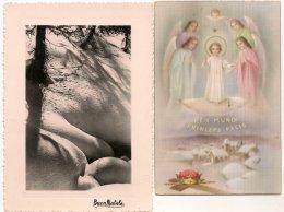 Ldiv119/120 -  Lot De Deux Cartes  Sur La Nativité - - Christmas