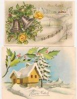 Ldiv125 -   Lot De Deux Cartes De  Voeux  Italienne -  Buon Natale - - Christmas