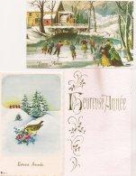Ldiv131 -   Lot De Trois Cartes De  Voeux  - Bonne Année - - New Year