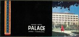 Old Nice Tourist Depliant Prospekt Palace Hotel Ohrid Macedonia Makedonija Jugoslavija Many Famous Pictures , Harmo - Dépliants Touristiques