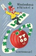 GAMBLING * LOTTERY * FOOTBALL POOL * SOCCER * SPORT * FOUR LEAF CLOVER * CALENDAR * Sportfogadas 1962 * Hungary - Calendriers