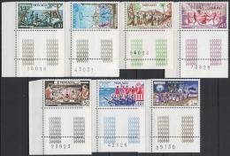 MONACO 1973 - SERIE N° 939 A 945 - 7 TP COINS DE FEUILLES NEUFS** F5 - Monaco