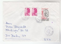 1984 Le Lavandou  FRANCE  COVER Stamps MAX POL FOUCHET Tv Television To Germany - France