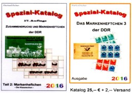 DDR Teil 2+6 RICHTER Kataloge Standard-Markenhefte + Spezial-MH 3 Neu 50€ Booklets+carnets Special Catalogue GDR Germany - Telefonkarten