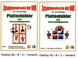 DDR Teil 4+5 RICHTER 2016 ZD-Abarten Bei Bogen + Blocks/Kleinbogen Neu 35€ Se-tenant Error Special Catalogue GDR Germany - Telefonkarten