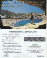 GREECE - Matala/Crete, Call Home By Satline Prepaid Card 5 Euro(with Logo), Exp.date 31/12/03, Sample - Landschappen