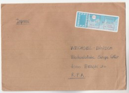 1988 Pouzauges FRANCE COVER H OO3.00  FRAMA ATM METER Stamps To Germany - France
