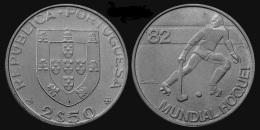 """PORTUGAL  2,50 ESCUDOS  1.982  Cu Ni  KM#613 """"MUNDIAL HOQUEI""""   SC/UNC   T-DL-11.737 - Portogallo"""