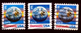 USA, 1988, Earth In The E Series (25c), Scott #2277, 2279, 2282, Used, NH - Usati