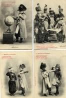 BERGERET Belle Série De 6 Cartes Précurseur NAPOLEON En CAMPAGNE - Bergeret