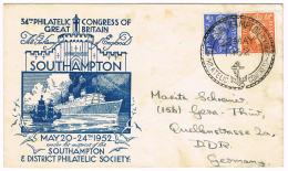 0660// ENGLAND - 34th Philatelic Congress Southhampton 22 May 1952 - Special Cancel - 1952-.... (Elisabeth II.)