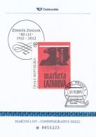 "Czech Rep. / Commemorative Sheet (2012) Praha 1: Movie Poster ""Marketa Lazarova"" (1967) Cz. Historical Film (K7935) - Cinema"