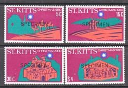 """ST. KITTS  19-8 *   """"SPECIMEN""""     CHRISTMAS - St.Kitts And Nevis ( 1983-...)"""