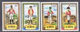 """ST. KITTS  68+  *   """"SPECIMEN""""       MILITARY UNIFORMS - St.Kitts And Nevis ( 1983-...)"""