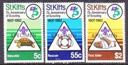 "ST. KITTS  99-101  *    ""SPECIMEN""    SCOUTING - St.Kitts And Nevis ( 1983-...)"