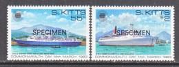 """ST. KITTS  106-7   *    """"SPECIMEN""""   CRUISE SHIPS - St.Kitts And Nevis ( 1983-...)"""