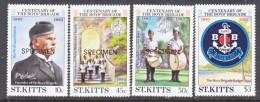 "ST. KITTS  108-11   *    ""SPECIMEN""    BOY'S BRIGADE - St.Kitts And Nevis ( 1983-...)"