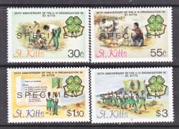 """ST. KITTS  153-6    *    """"SPECIMEN""""    4 - H - St.Kitts And Nevis ( 1983-...)"""