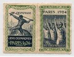 """Paire De Vignettes """"JEUX OLYMPIQUES PARIS 1924"""" (8eme Olympiade) Neuves, Sans Gomme. - Sports"""