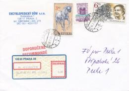 K7946 - Czech Rep. (1997) 128 00 Praha 28 (R-letter) Tariff: 12,60 CZK (stamp: 6,00 CZK - Vera Mencikova (1906-1944)) - Scacchi