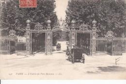 Cp , 75 , PARIS , L'Entrée Du Parc Monceau - Parks, Gardens