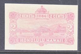 HAWAII   U 2 C,  PALE PINK  CUT SQUARE - Hawaii