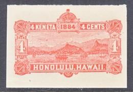HAWAII   U 3,  CUT SQUARE - Hawaii
