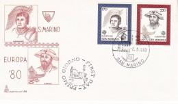 SAN MARINO 1980 EUROPA CEPT FDC - 1980