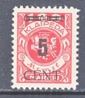 MEMEL  N 65   * - Memel (1920-1924)