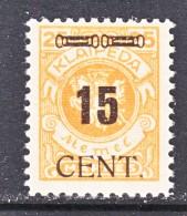 MEMEL  N 67    * - Unused Stamps