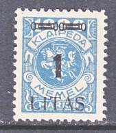 MEMEL  N 69   * - Unused Stamps