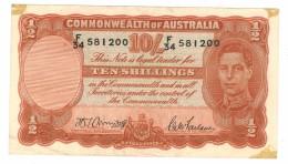 Australia, 10 Shill. Armitage-Mc Farlane , AXF!!!, See Scan. - 1938-52