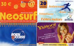CARTES D'ACCES INTERNET  (lot De 4) - Autres