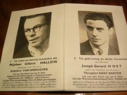 AANDENKEN GILBERT HALLEIN WESTROOZEBEKE UITROEIINGSKAMP GERARD HOET WETTEREN 1945 - Religione & Esoterismo