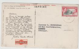 BRO021 / John Adams Mit Haus, Ausgabe Von 1940 Per Drucksache In Die Schweiz - Pitcairninsel