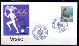 YOUGOSLAVIE  FDC  Jo 1972  Course Flamme Vrsac  Water Polo