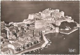 Dépt 20 - CALVI - Vue Aérienne - Le Port, La Citadelle, La Cathédrale - (CPSM 10,3 X 15,3 Cm) - Corse - Calvi