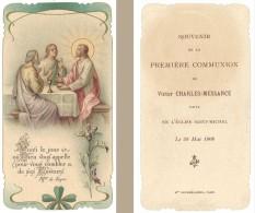 Image Religieuse / Pieuse : 1ere Communion, Famille Charles-Messance - Images Religieuses