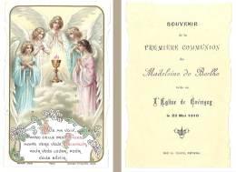 Image Religieuse / Pieuse : 1ere Communion, église De Guérigny / Anges - Images Religieuses