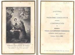 Image Religieuse / Pieuse : 1ere Communion, Famille Clermont-Tonnerre, Cathédrale Sainte-Apollaire, Valence - Images Religieuses
